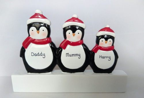 Penguin Family of 3 Mantle Decoration